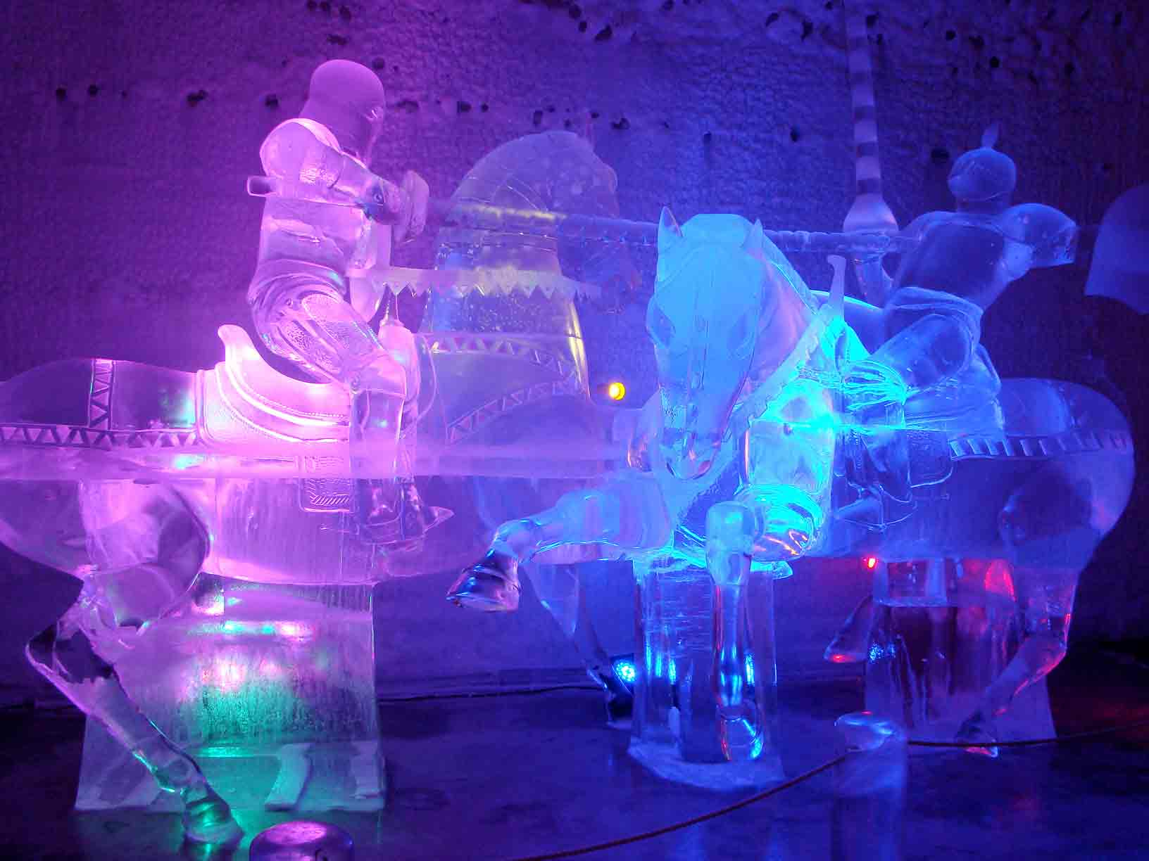 Jousters Ice Carving Photo by John Jansen