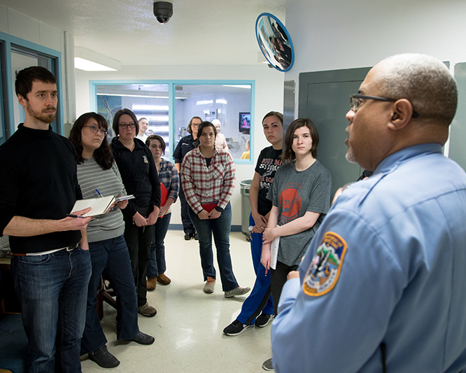 UAF COJO students attending class at the Fairbanks Correctional Center.